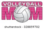 volleyball mom is an... | Shutterstock .eps vector #328859702