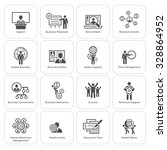 flat design icons set. business ... | Shutterstock .eps vector #328864952
