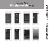 mobile wireframe app ui kit 29. ...