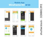 mobile wireframe app ui kit 30. ...