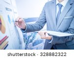 businessman analyzing... | Shutterstock . vector #328882322