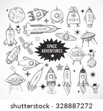collection of sketchy space... | Shutterstock .eps vector #328887272