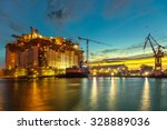 oil rig under construction at... | Shutterstock . vector #328889036