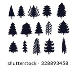the hand drawn christmas trees...   Shutterstock .eps vector #328893458