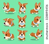 Cartoon Character Corgi Dog...