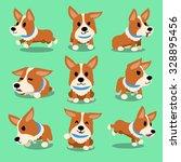 Cartoon Character Corgi Dog...