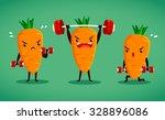 set of carrot characters do... | Shutterstock .eps vector #328896086