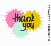 thank you  hand crafted... | Shutterstock .eps vector #328899182