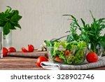salad fresh vegetable closeup...