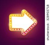 retro light bulb arrow. | Shutterstock .eps vector #328903718