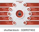 design clean number banners... | Shutterstock .eps vector #328907402