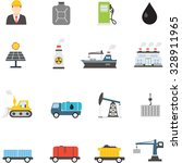 industrial flat icon | Shutterstock .eps vector #328911965