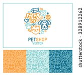 Stock vector vector logo design template for pet shops veterinary clinics and homeless animals shelters 328912262