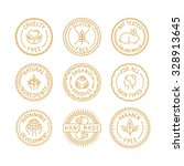 vector set of badges for... | Shutterstock .eps vector #328913645