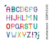 color font with effect of... | Shutterstock .eps vector #328915142