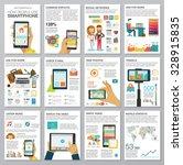 social media infographic set...