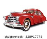 retro car. | Shutterstock .eps vector #328917776