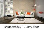 interior of modern design room... | Shutterstock . vector #328924235