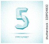 number 5 from stipple alphabet  ... | Shutterstock .eps vector #328924832