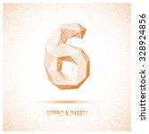 number 6 from stipple alphabet  ... | Shutterstock .eps vector #328924856