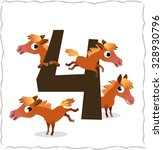 animal numbers for kids  4... | Shutterstock .eps vector #328930796