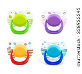 latex pacifier with transparent ... | Shutterstock . vector #328932245