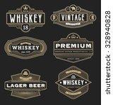 vintage frame design for labels ... | Shutterstock .eps vector #328940828