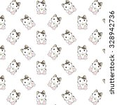 cute cartoon cats pattern. | Shutterstock .eps vector #328942736