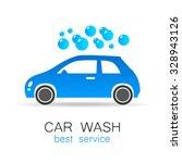 car wash   vector sign....   Shutterstock .eps vector #328943126