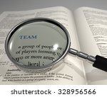 "word ""team"" under magnifying... | Shutterstock . vector #328956566"