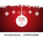 merry christmas background | Shutterstock .eps vector #328961888