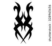 tattoo tribal vector design... | Shutterstock .eps vector #328965656