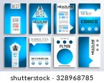 set of brochure  flyers and... | Shutterstock . vector #328968785