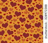 red and orange hearts tile... | Shutterstock . vector #328972388