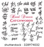 hand drawn elegant ampersands... | Shutterstock .eps vector #328974032