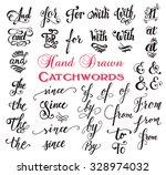 hand drawn elegant ampersands...   Shutterstock .eps vector #328974032
