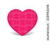 patterned heart   Shutterstock .eps vector #328982648