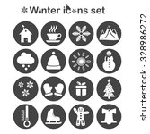 Winter Icons Set  16 Signs On...