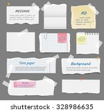 torn paper pieces  old paper ...   Shutterstock .eps vector #328986635