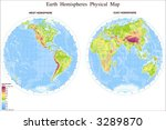map of world in hemispheres | Shutterstock .eps vector #3289870