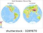 map of world in hemispheres | Shutterstock .eps vector #3289870