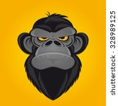 angry ape cartoon | Shutterstock .eps vector #328989125