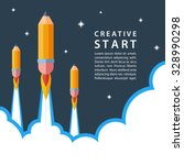 creative start concept. start... | Shutterstock .eps vector #328990298