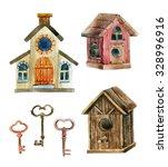 Retro Birdhouses And Keys....
