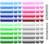 blank web buttons in 20 colors. ... | Shutterstock .eps vector #329005505