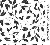 seamless leaves pattern. vector ... | Shutterstock .eps vector #329014136