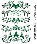 set of christmas banners on... | Shutterstock .eps vector #329016602