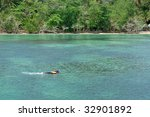 skin diving in southern thai sea | Shutterstock . vector #32901892
