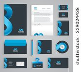 corporate identity branding... | Shutterstock .eps vector #329024438