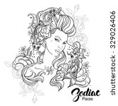 zodiac. iilustration of pisces... | Shutterstock . vector #329026406